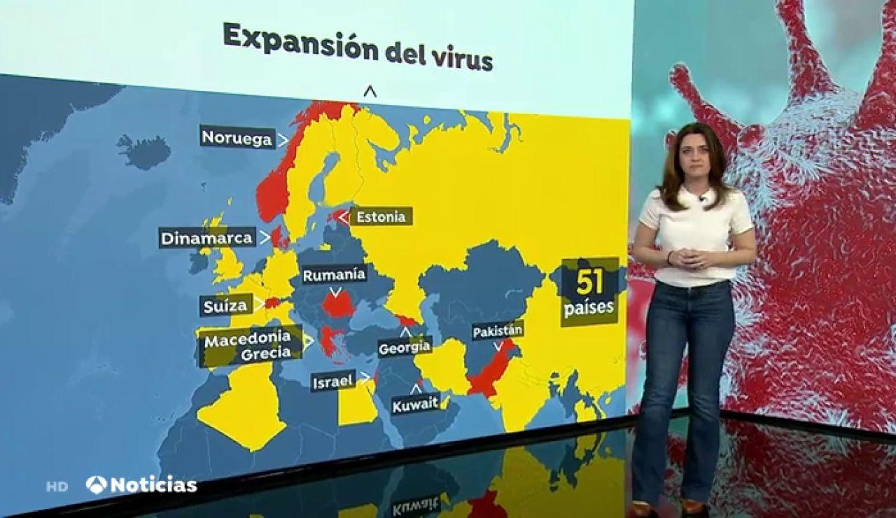 Todos los continentes menos la Antártida tienen enfermos contagiados por coronavirus