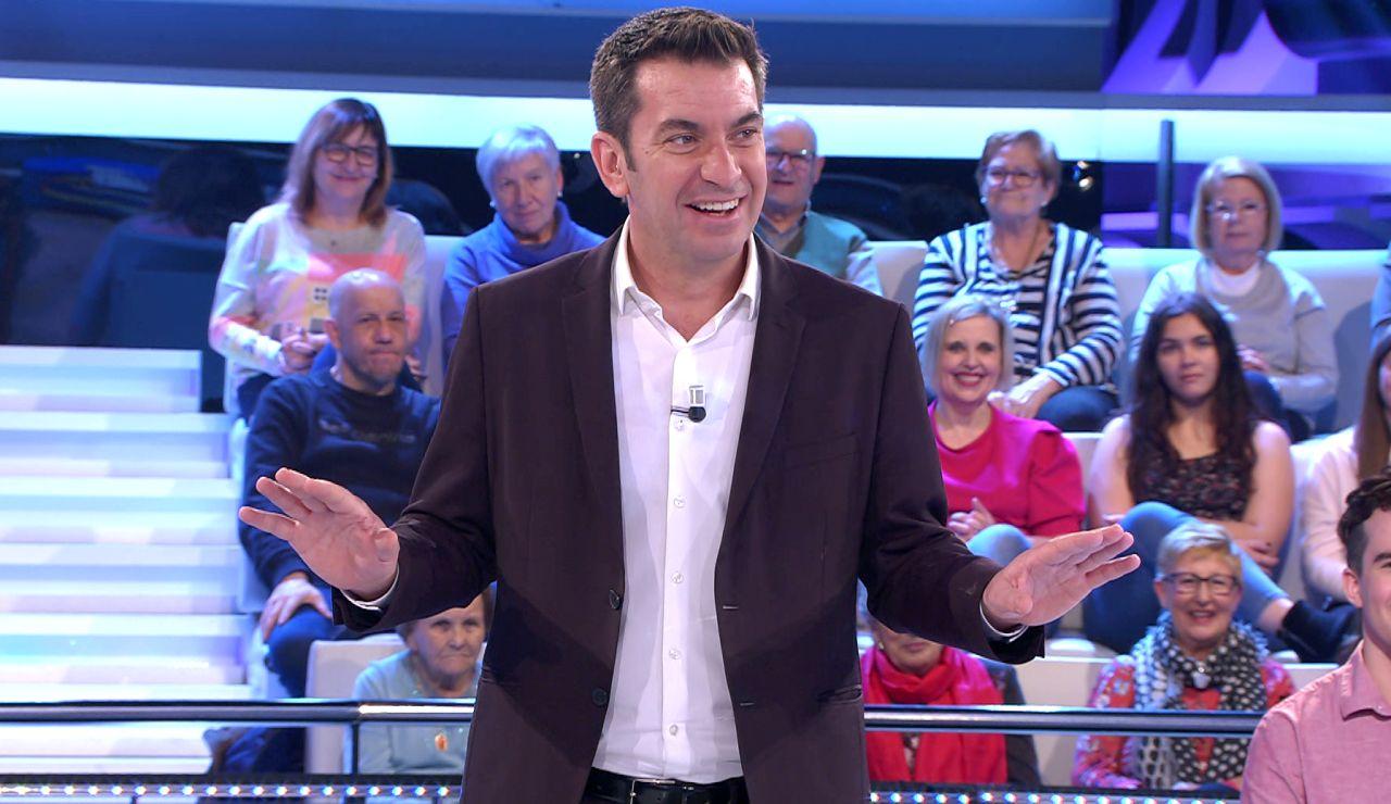 """""""!Qué pringao!"""": Arturo Valls alucina al descubrir un dato de Juanra Bonet en '¡Ahora caigo!'"""