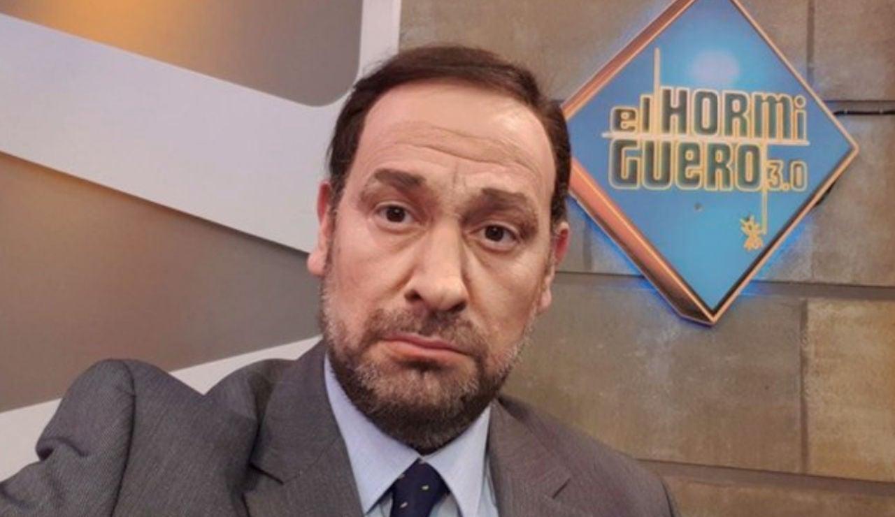 La reacción de José Luis Ábalos ante la imitación de Carlos Latre en 'El Hormiguero 3.0'