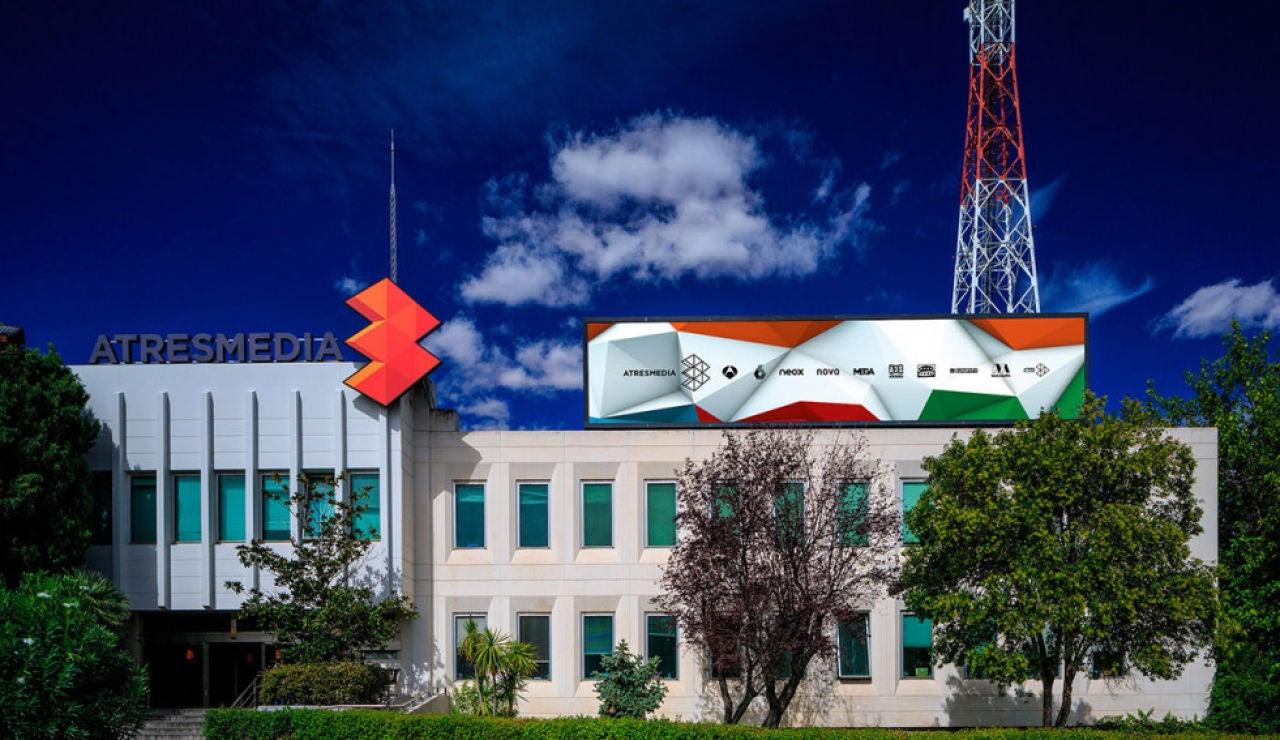 Imagen exterior de la sede de Atresmedia
