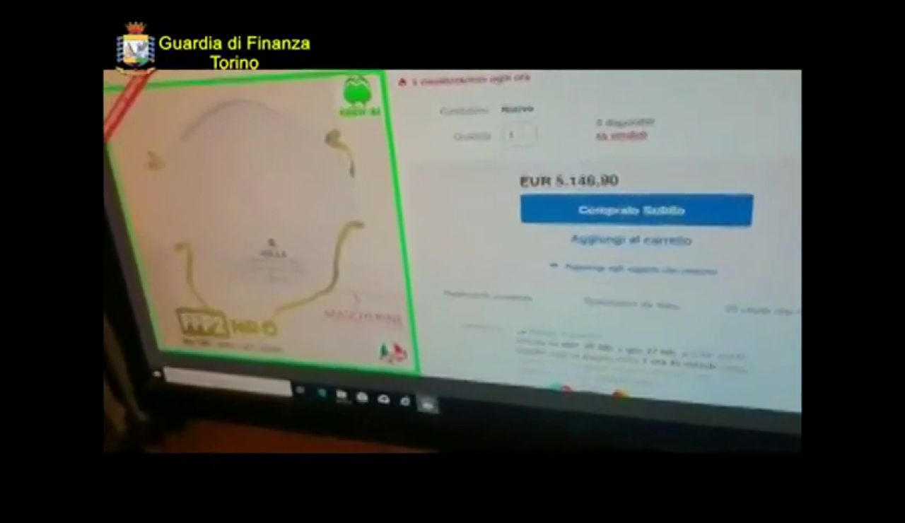 Detienen a 20 personas que vendían mascarillas a 5.000 euros en Italia para lucrarse por el coronavirus