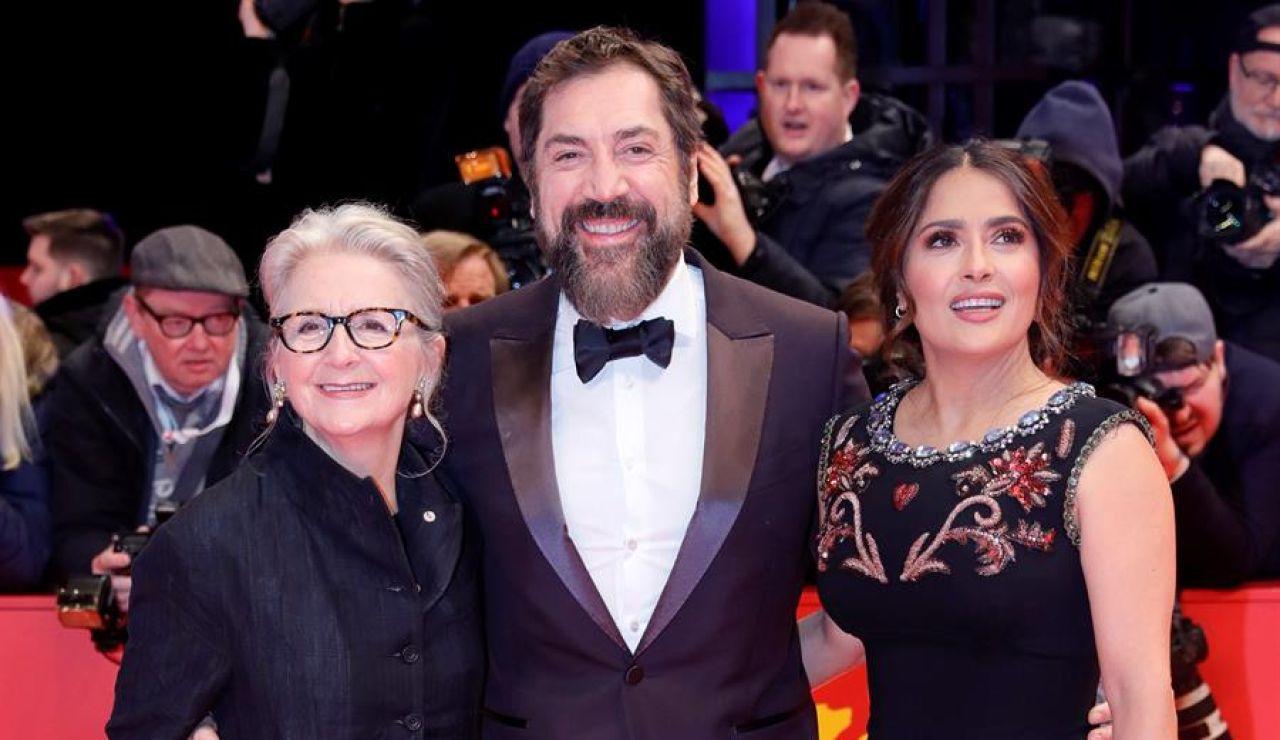 Javier Bardem, Sally Potter y Salma Hayek.