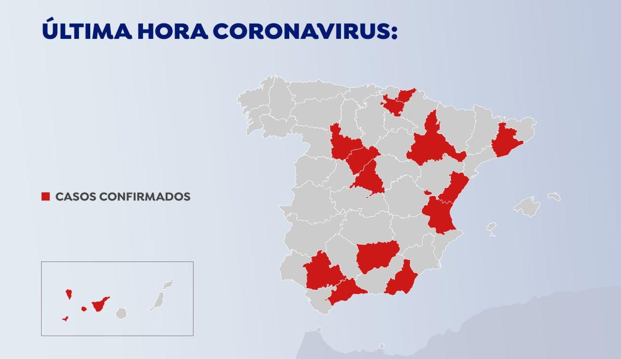 40 casos confirmados por coronavirus