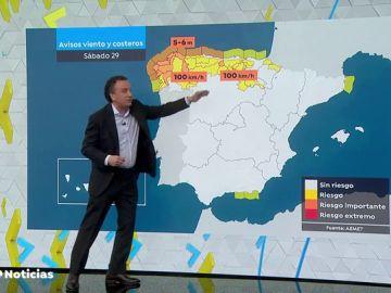Llega la borrasca Jorge donde dejará fuertes lluvias en Galicia y una bajada de temperaturas en el resto de la península