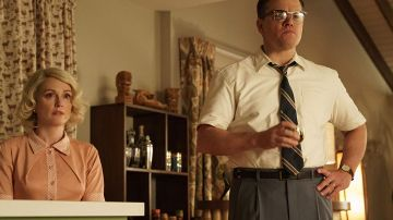 Juliane Moore y Matt Damon en 'Suburbicon'