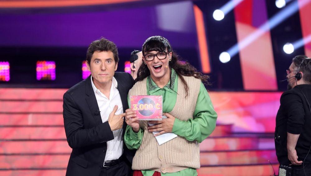 Un emocionado Jorge González gana la octava gala de 'Tu cara me suena'