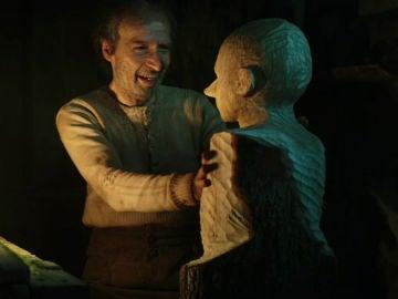 Roberto Benigni como Geppetto en 'Pinocho'
