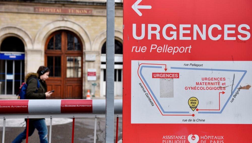 La entrada a urgencias a un hospital de Francia
