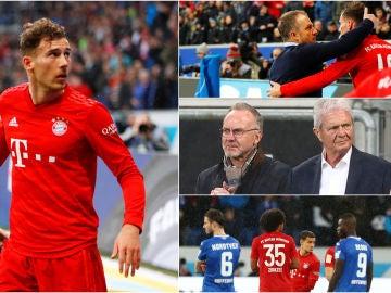 Los jugadores del Bayern se encaran con sus propios aficionados