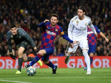 Messi, ante Ramos y Courtois