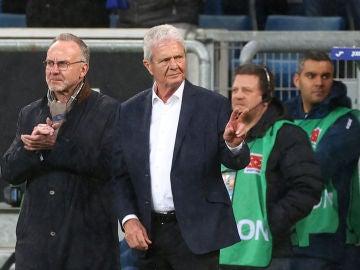 Karl-Heinz Rummenigge junto a Dietmar Hopp