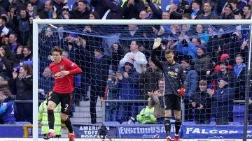 David de Gea se disculpa tras su error ante el Everton