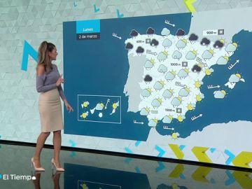 Borrasca Karine: toda España estará mañana en aviso por viento, lluvias, olas y nieve