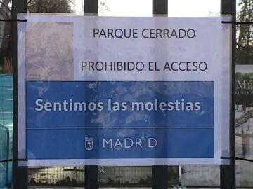 El Retiro y otros 8 parques de Madrid cierran por el fuerte viento
