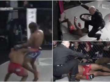 El brutal KO durante un combate de MMA