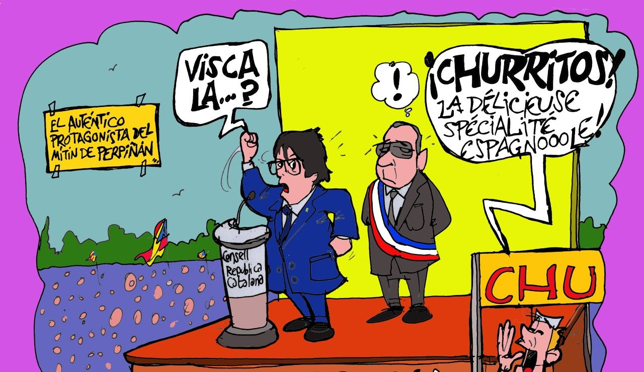 Los churros y Puigdemont, protagonistas de la viñeta de la semana