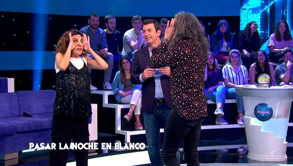 Toni Acosta acusa a Mario Vaquerizo de tramposo en 'Transmisión imposible'