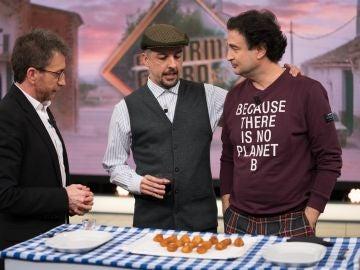 Don Rogelio consigue vencer a Pepe Rodríguez y Pablo Motos en el juego de las croquetas