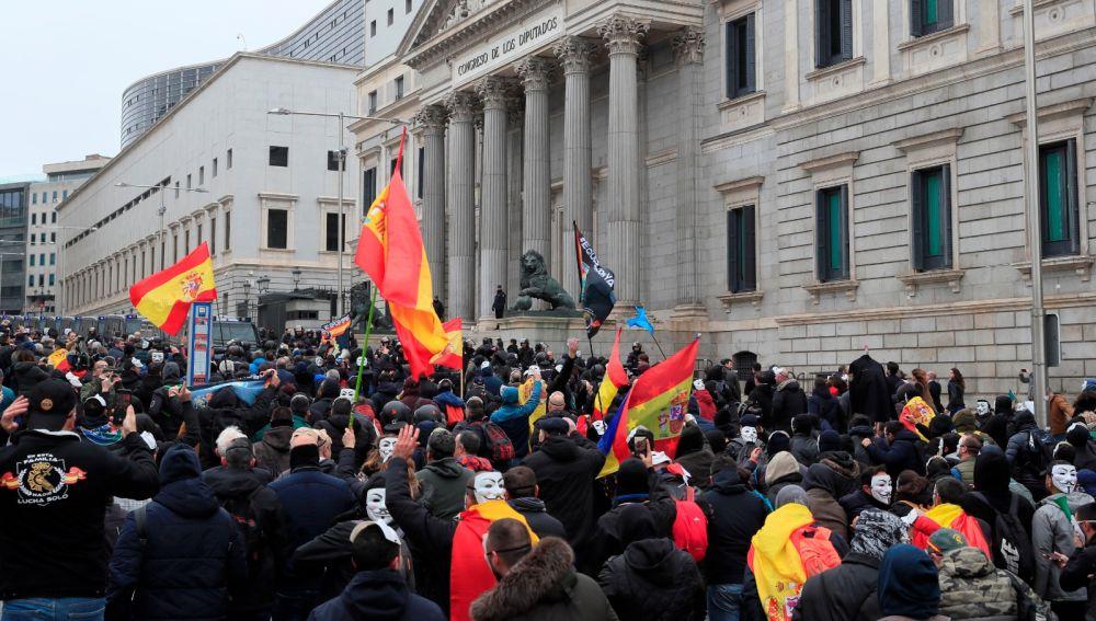 Manifestación de Jusapol en el Congreso