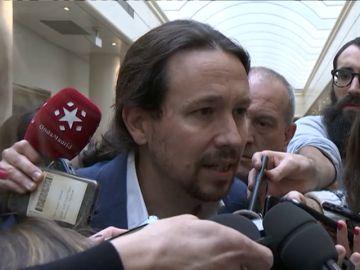 """Pablo Iglesias califica de """"machistas frustrados"""" a los que han puesto objeciones técnicas a la Ley de Libertad Sexual"""