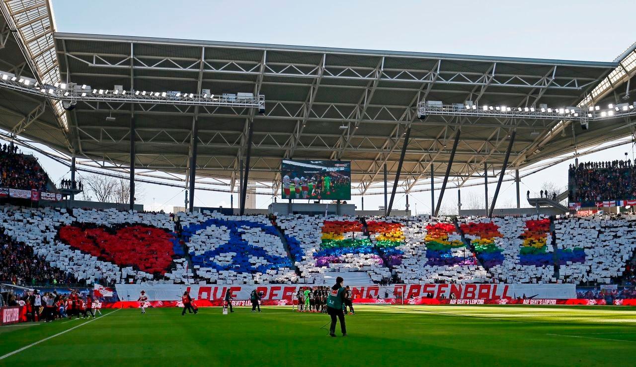 Estadio del RB Leipzig, antes del partido ante el Leverkusen