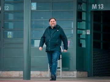 Oriol Junqueas tras su salida de prisión para dar clase en la universidad de Vic