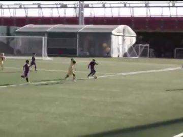 Thiago Messi ya impresiona en la cantera del Barcelona con solo siete años