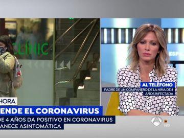 Una niña de 4 años, positivo en coronavirus
