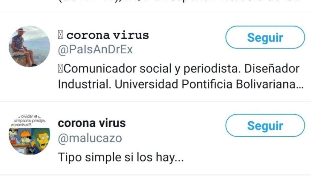 Cuentas del coronavirus