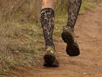 Un runner en plena carrera