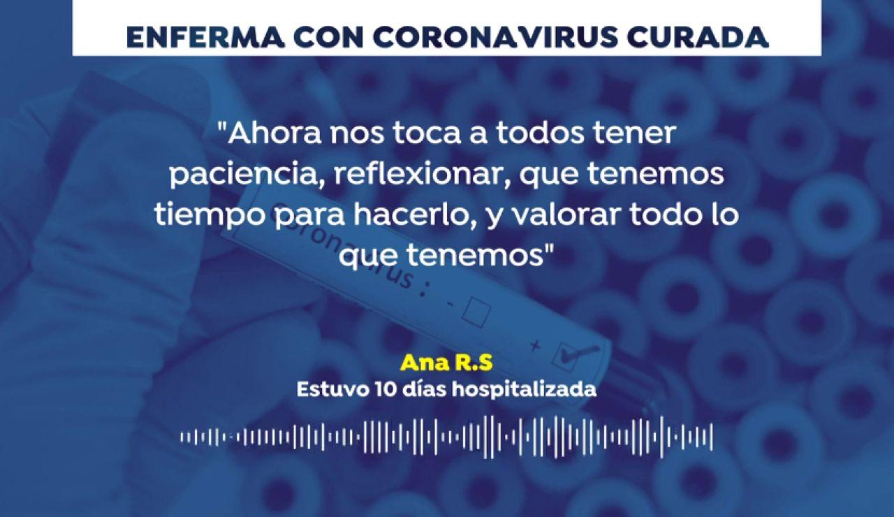 """El mensaje de Ana, dada de alta tras diez días ingresada por coronavirus: """"Nos toca valorar todo lo que tenemos"""""""