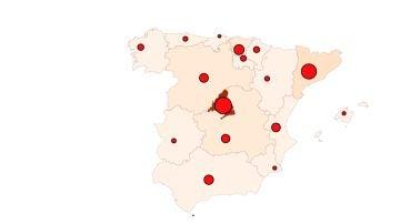 Mapa de coronavirus en España