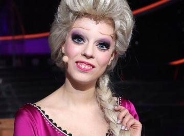 Nerea Rodríguez caracterizada como Elsa, de 'Frozen', en 'Tu cara me suena'
