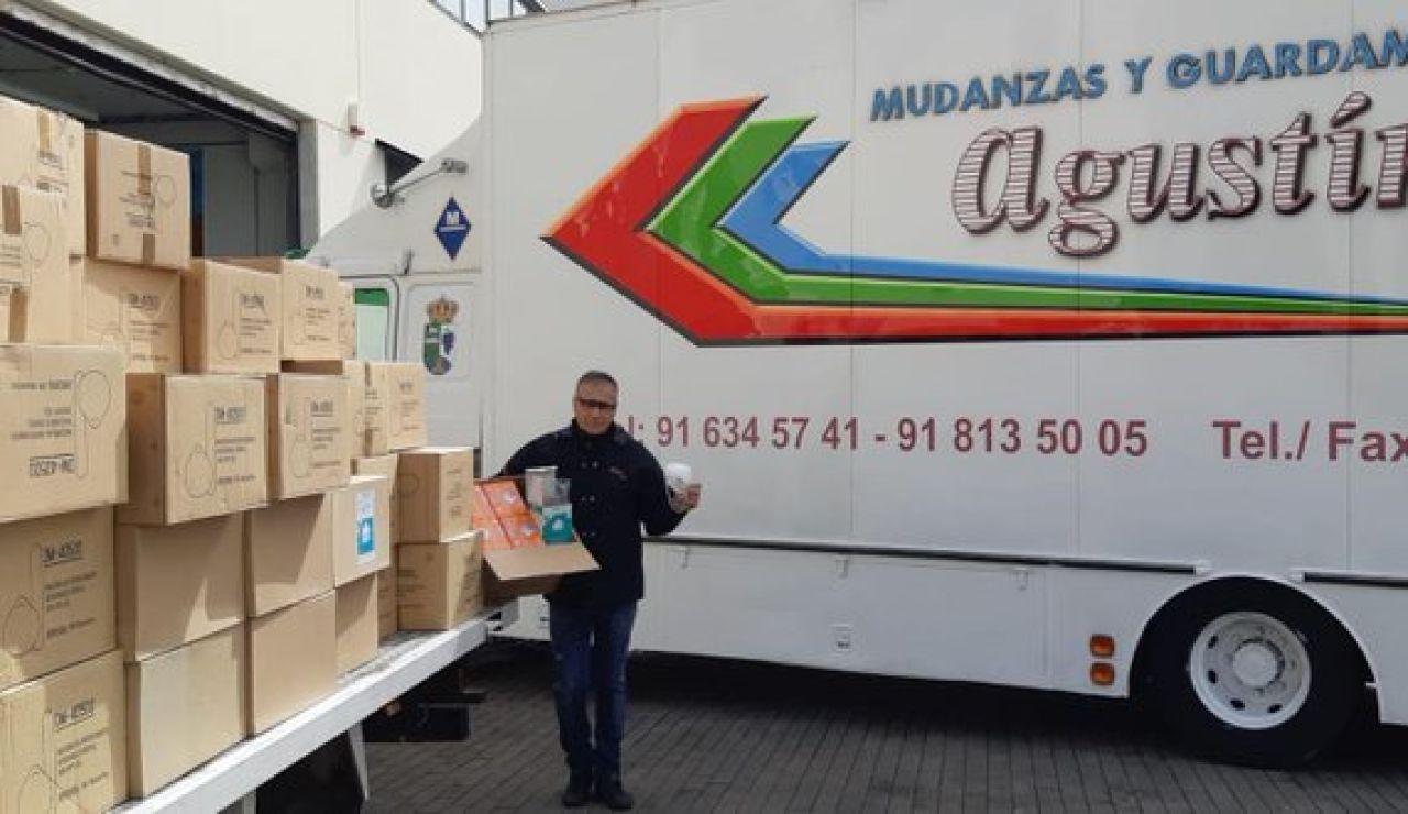 Las mascarillas donadas al hospital Puerta de Hierro