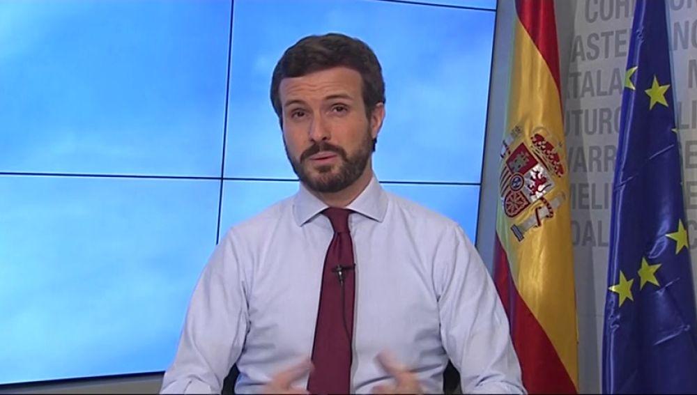 Pablo Casado reclama a Pedro Sánchez que se hagan ya test masivos de coronavirus
