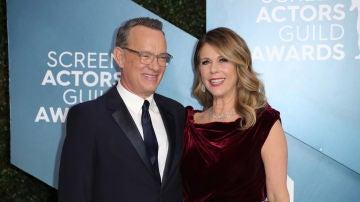 Tom Hanks y su mujer Rita Wilson