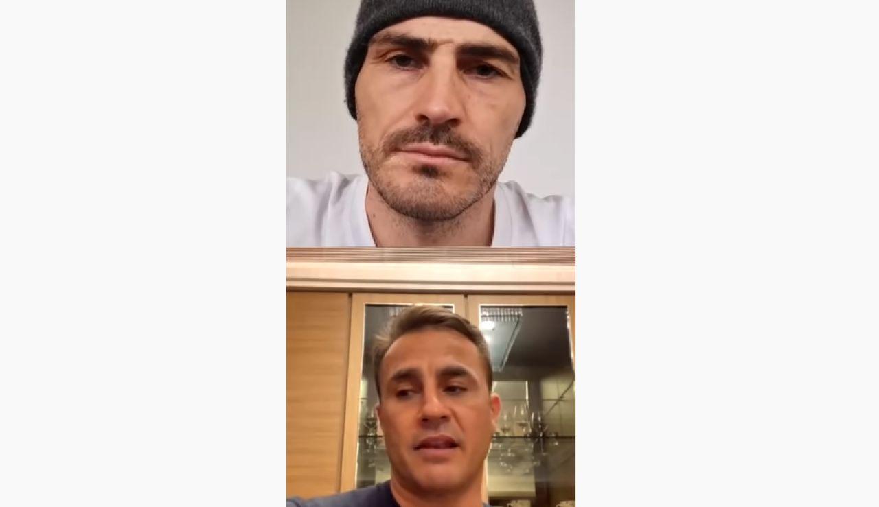Casillas y Cannavaro