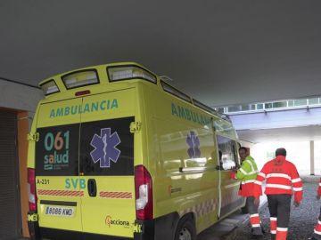 Ambulancias trabajando por el coronavirus.