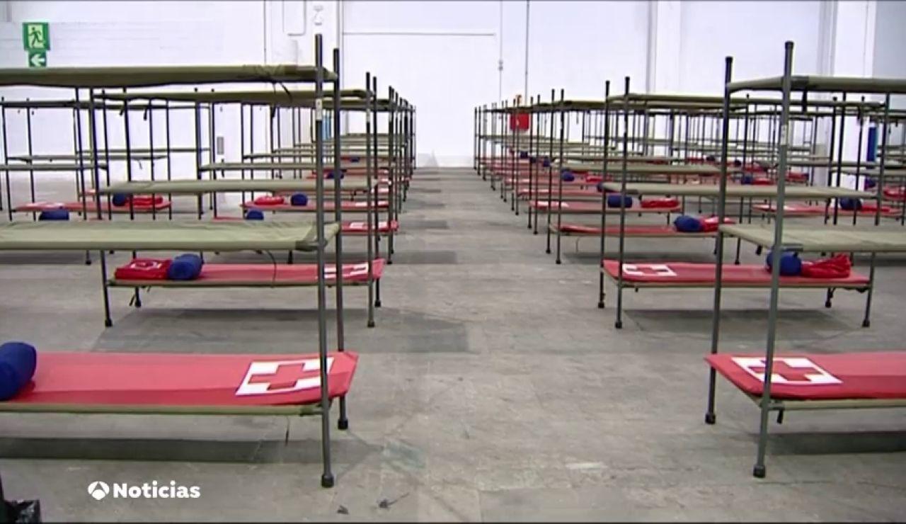 La feria de Barcelona abre un centro para atender a los sin hogar durante el confinamiento por el coronavirus
