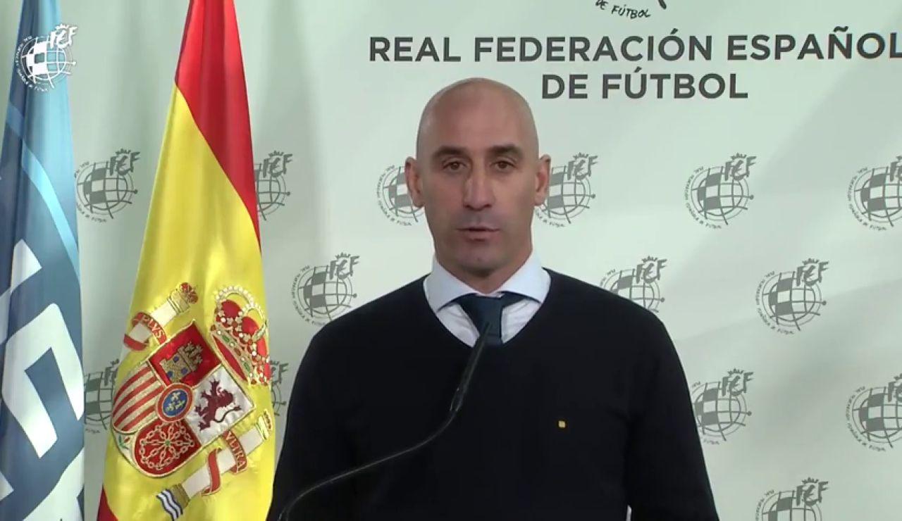 """Luis Rubiales: """"Las competiciones tienen que terminar en el terreno de juego"""""""
