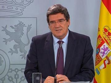 José Luis Escrivá, ministro de Inclusión, Seguridad Social y Migraciones, durante la rueda de prensa