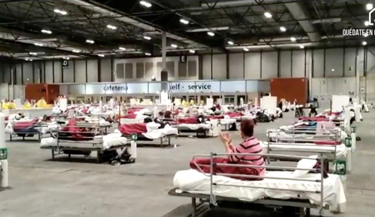 Aplauso a sanitarios de Ifema