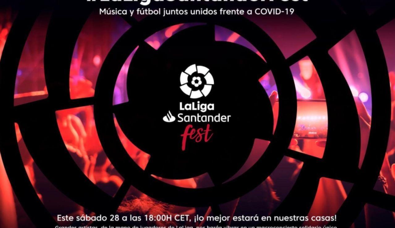 LaLiga Santander Fest, el concierto benéfico contra el coronavirus