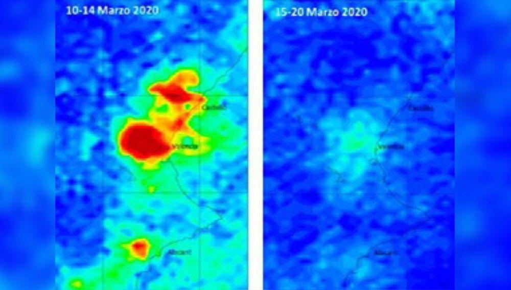 Imágenes del satélite en Valencia