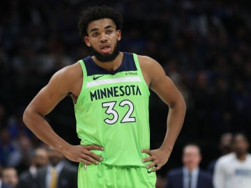 Karl-Anthony Towns, en un partido de la NBA