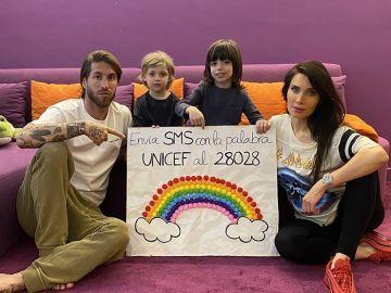 Ramos y Pilar Rubio piden colaborar con Unicef