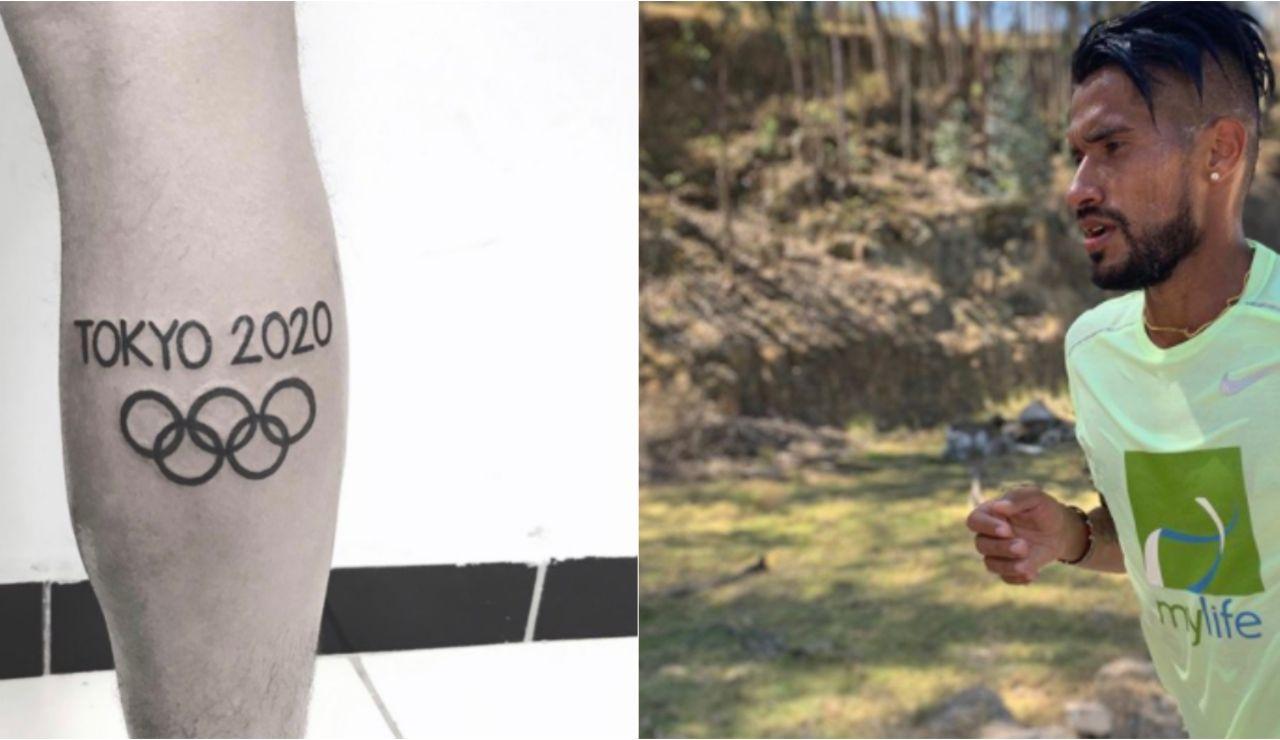 El tatuaje de Derlys Ayala, atleta paraguayo