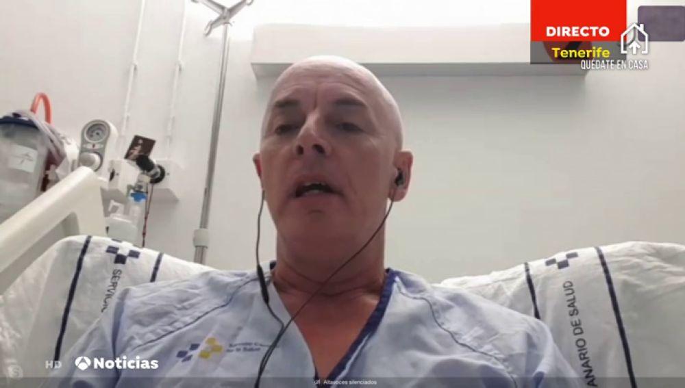 Javier García, enfermo de coronavirus