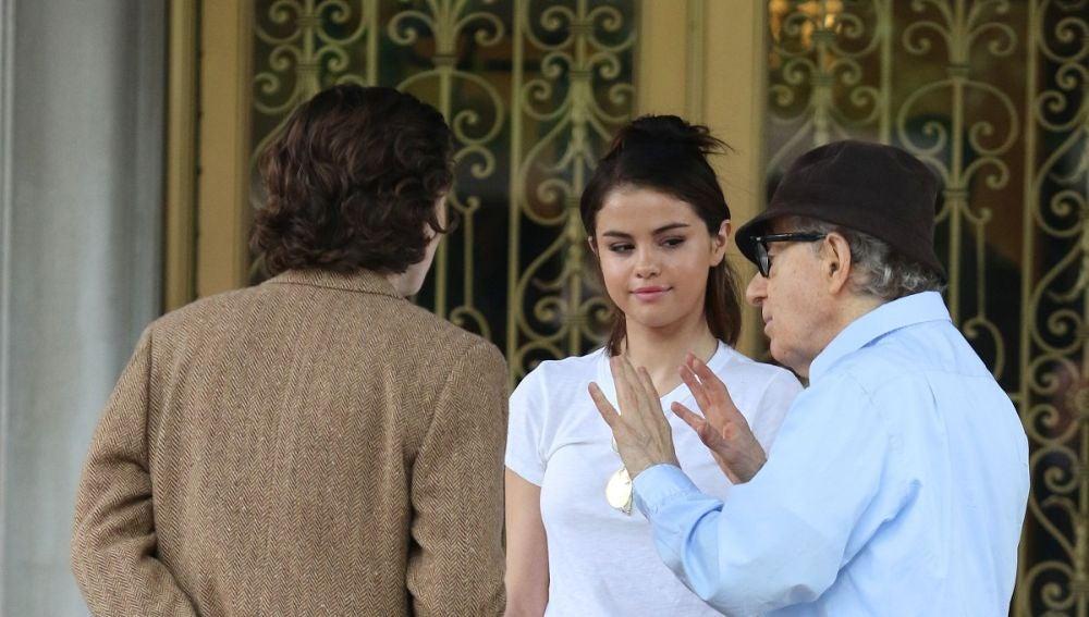 Timothée Chalamet, Selena Gomez y Woody Allen