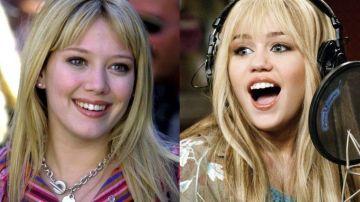 Hilary Duff en 'Lizzie McGuire' y Miley Cyrus en 'Hannah Montana'